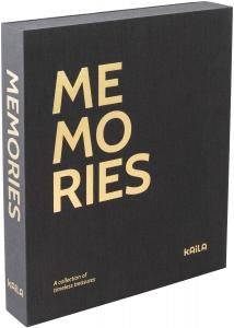 KAILA KAILA MEMORIES Black - Coffee Table Photo Album (60 Zwarte pagina's)