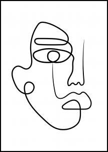 Lagervaror egen produktion Face Line I Poster