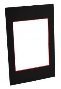 Passepartouter Måttbeställda Passe-partout Zwart (Rode kern) - Op maat gemaakt