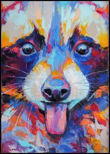 Lagervaror egen produktion Raccoon Painting II Poster