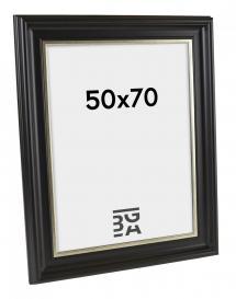 Galleri 1 Fotolijst Dalarna Zwart-Zilver 50x70 cm