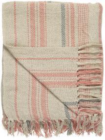 IB Laursen Plaid Stripes - Natuurgekleurd 130x160 cm