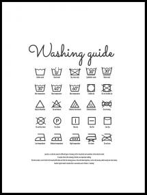 Bildverkstad Washing guide white Poster