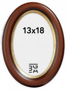 Bubola e Naibo Molly Ovaal Bruin 13x18 cm
