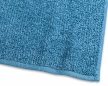 Borganäs of Sweden Handdoek Stripe Badstof - Turquoise 50x70 cm