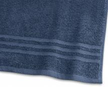 Borganäs of Sweden Badhanddoek Basic Badstof - Marine blauw 65x130 cm