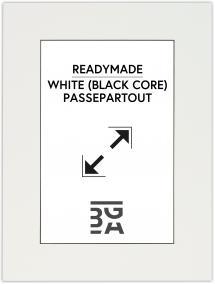 Galleri 1 Passe-partout Wit (Zwarte kern) 18x24 cm (12x17 cm)