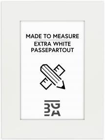 Egen tillverkning - Passepartou Passe-partout Superwit - Op maat gemaakt (Witte kern)