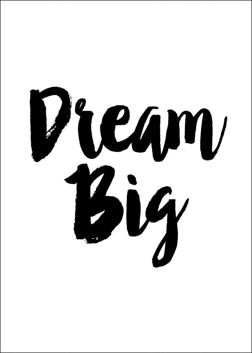 Bildverkstad Dream Big Poster