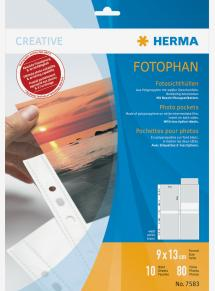 Herma foto insteekhoezen 9x13 cm staand - 10-pack witte