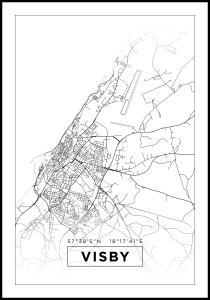 Bildverkstad Map - Visby - White Poster