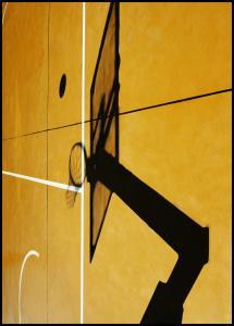 Bildverkstad Yellow basketball court Poster