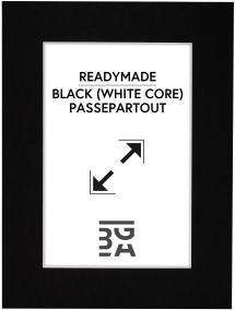 Galleri 1 Passe-partout Zwart (Witte kern) 30x40 cm (19x29)