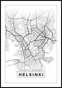Lagervaror egen produktion Map - Helsinki - White Poster