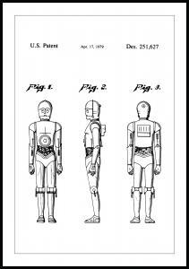 Lagervaror egen produktion Patenttekening - Star Wars - C-3PO Poster