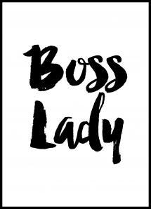 Lagervaror egen produktion Boss Lady Poster