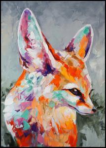 Bildverkstad Fox Painting Poster