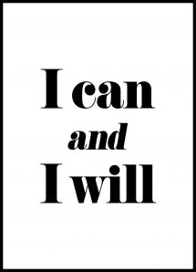 Bildverkstad I can and I will Poster