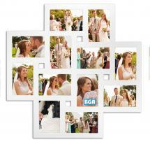 ZEP Milano Collagelijst Acrylglas Wit - 12 Foto's
