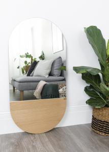 Hübsch Spiegel Oval Eikenhout 50x100 cm