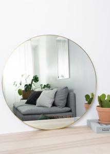 HN - KAILA KAILA Round Mirror - Thin Brass 80 cm Ø