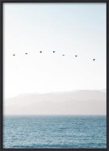 Lagervaror egen produktion Pastel Blue Sea Poster