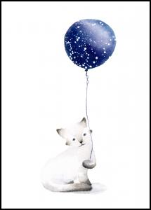 Bildverkstad Cat With Balloon Poster