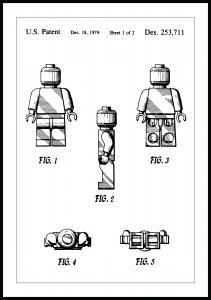Lagervaror egen produktion Patenttekening - Lego I Poster