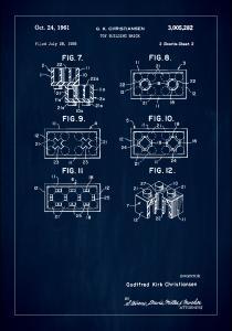 Bildverkstad Patent Print - Lego Block II - Blue Poster
