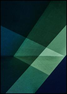 Bildverkstad Green & Blue Graphic Poster