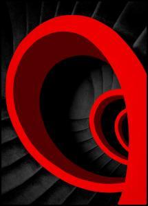 Bildverkstad A red spiral Poster