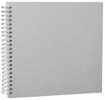 Focus Base Line Canvas Wire-O Beige 30x30 cm (50 Witte pagina's / 25 Bladen)