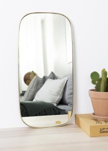 Hübsch Spiegel Square Messing 29x59 cm