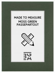 Egen tillverkning - Passepartouter Passe-partout Mosgroen - Op maat gemaakt (Witte kern)