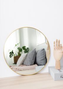 HN - KAILA KAILA Round Mirror - Thin Brass 40 cm Ø