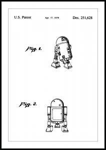 Lagervaror egen produktion Patenttekening - Star Wars - R2-D2 Poster