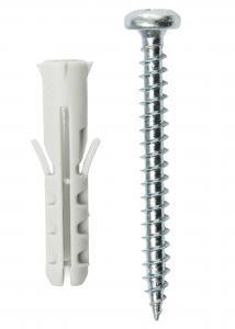 Schroeven en pluggen voor betonmuur - 5-pack (40x8 mm)