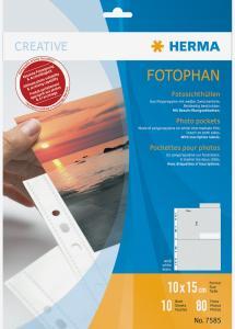 Herma foto insteekhoezen 10x15 cm staand - 10-pack witte