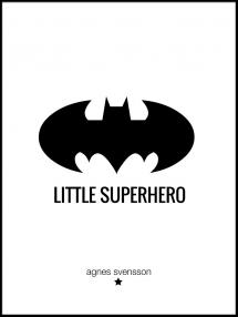 Personlig poster Little Superhero