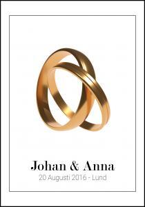 Personlig poster Wedding Rings