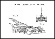Bildverkstad Patenttekening - Batman - Batmobile 1996 I Poster