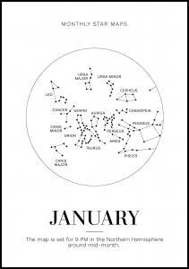 Bildverkstad Monthly star January Poster
