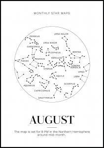 Bildverkstad Monthly star August Poster