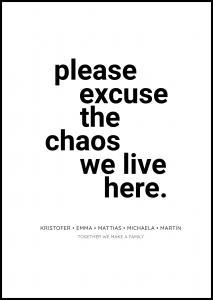 Personlig poster Chaos - White