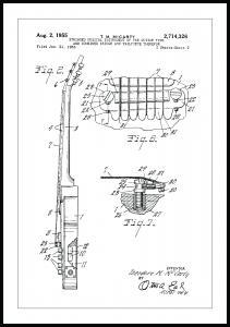 Bildverkstad Patenttekening - Elektrische gitaar II Poster