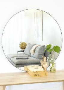 KAILA KAILA Round Mirror - Thin Black 100 cm Ø