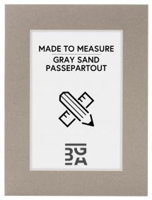 Egen tillverkning - Passepartouter Passe-partout Zandgrijs - Op maat gemaakt (Witte kern)
