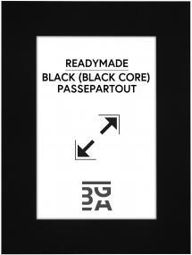 Galleri 1 Passe-partout Zwart (Zwarte kern) 28x35 cm (19x24)
