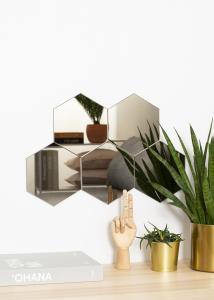 KAILA KAILA Spiegel Hexagon Dark Bronze 18x21 cm - 5-pack