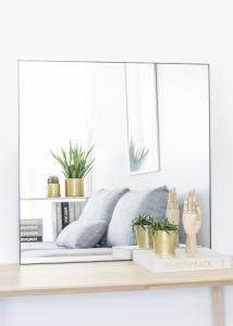 KAILA KAILA Square Mirror - Thin Black 80x80 cm